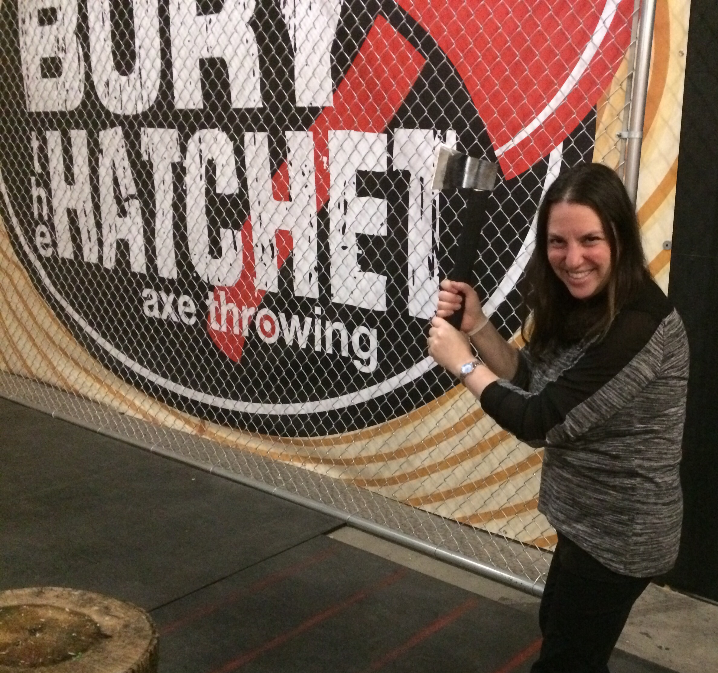 @themintchipmama's cover photo for 'Bury The Hatchet, Brooklyn - Axe Throwing At It's Best! ⋆ The Mint Chip Mama'