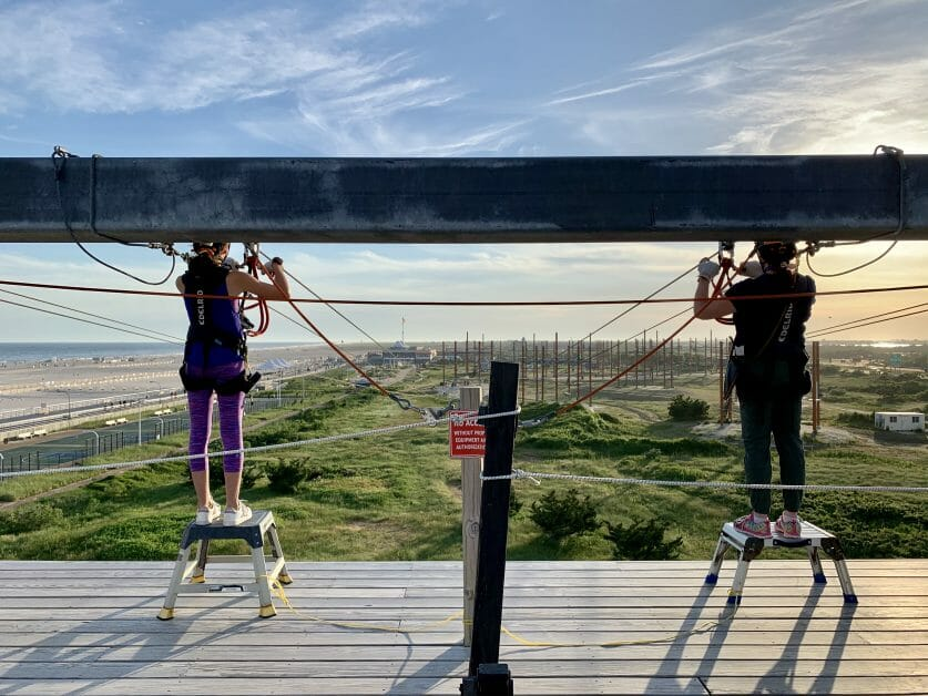 @themintchipmama's cover photo for 'Zipline & Ropes Courses on Long Island. Soar into Family Fun & Adventure in the Sky!'